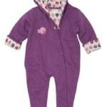 Green Baby organic pram suit - purple