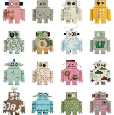 Robot Wallpaper from Studio Ditte