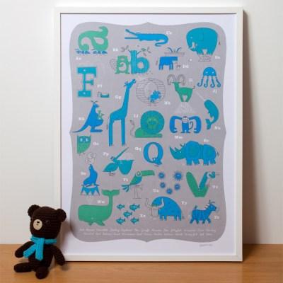 Gumo Gallery animal alphabet prints