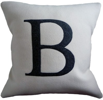 Liz Foster wool letter cushions at Unlimited Editions