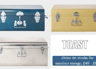 Finally Available For Pre-Order: Toast Tin Storage Trunks