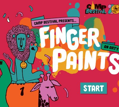 Camp Bestival Finger Paints iPad app