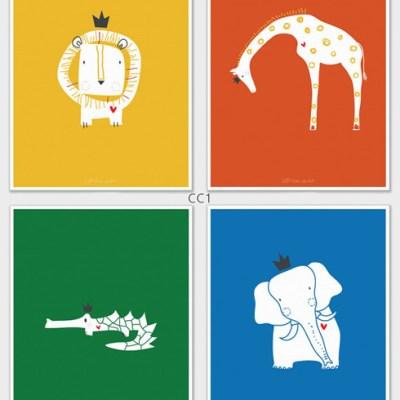 LittleLion Studio Royal Safari prints