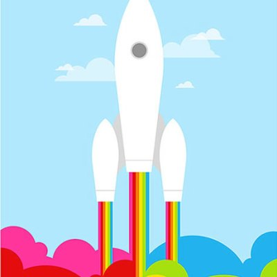 Yumalum Retro Rocket Poster
