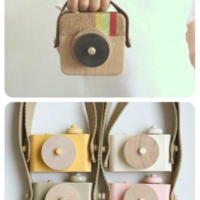 Twig Creative Wooden Toy Cameras