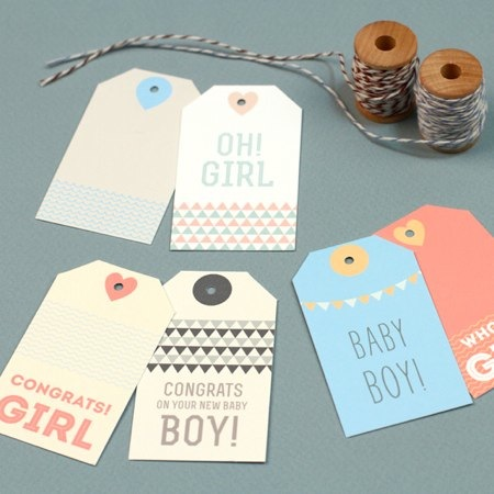 It's just a photo of Printable Baby Gift Tags with giveaway