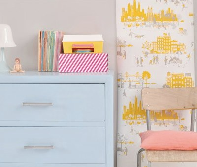 Hel-lo! New Famille Summerbelle Morning in Manhattan wallpaper
