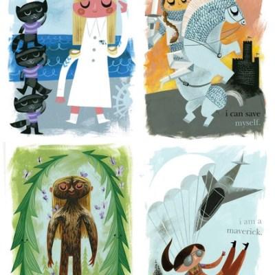Amanda Visell's inspirational children's posters