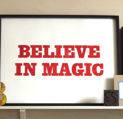 Unlimited Editions Believe in Magic print
