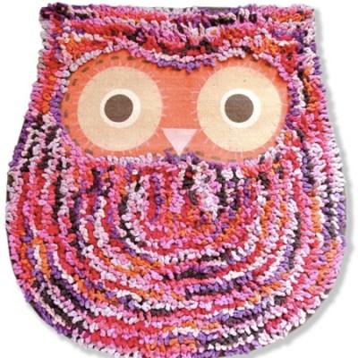 Shaggy Owl Mat