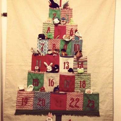 Inspiration: BG's finger puppet filled advent calendar