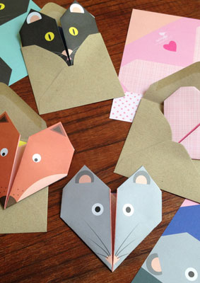 Lollipop Designs Animal Origami notecards