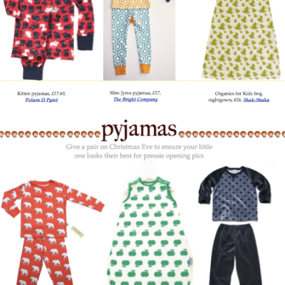 BG Christmas Gift Guide 2012: pyjamas