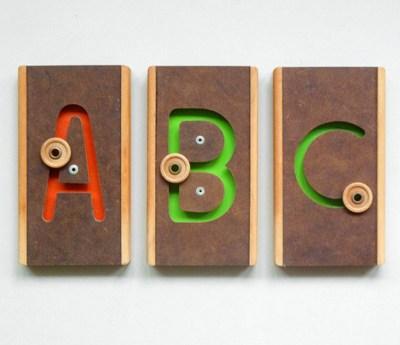 Wooden letter plaques