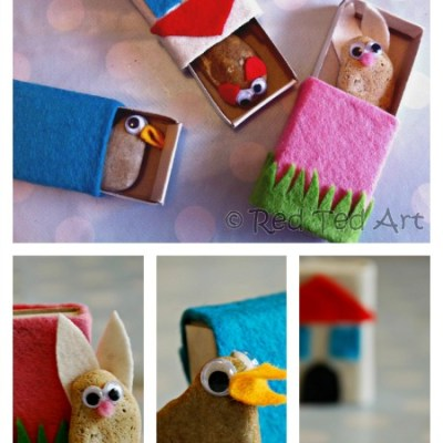 Make Your Own: Matchbox Stone Pets