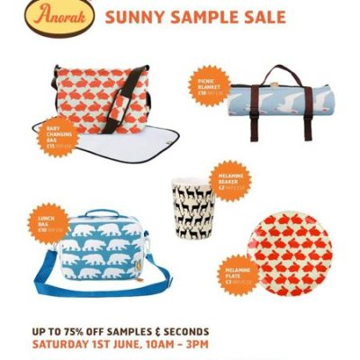 Hot! Anorak sunny sample sale – 1st June, Dulwich, London