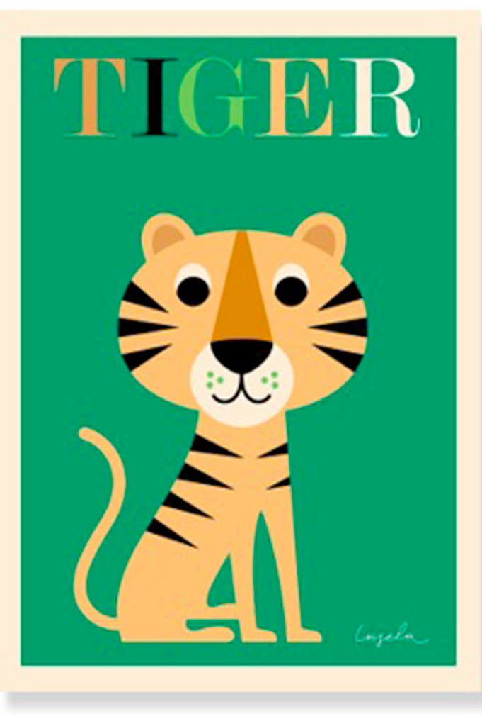 Tiger poster by Ingela P Arrhenius