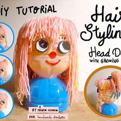 Make Your Own: Hair styling head doll with growing hair