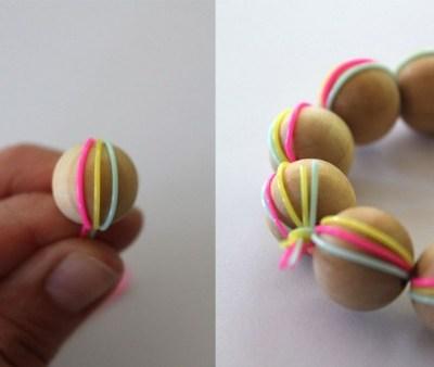 Make Your Own: wooden bead bracelet