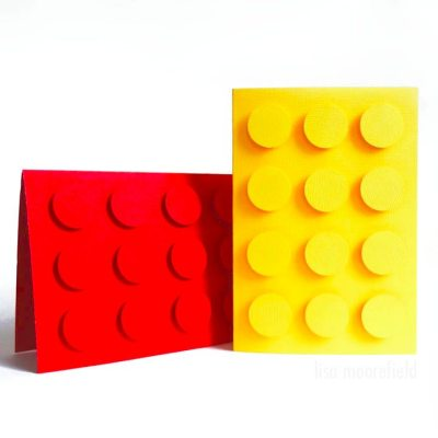 Make Your Own: Lego greeting cards