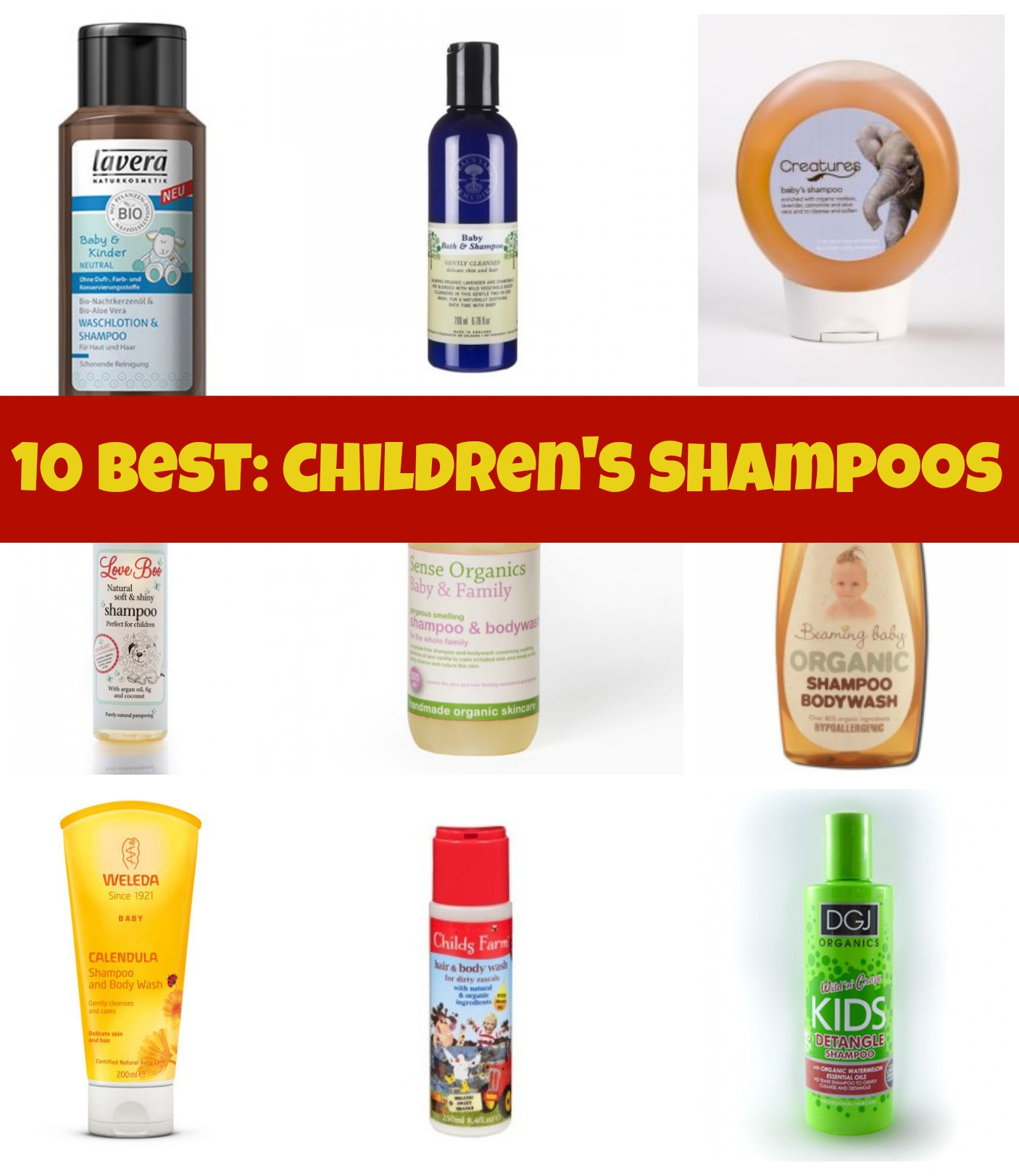 10 best: children's shampoos