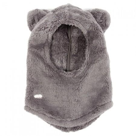 Talc fake fur hood