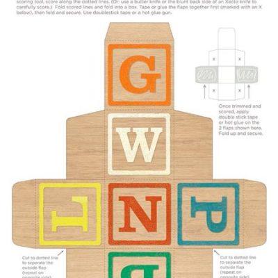 Cool printable: DIY vintage alphabet blocks
