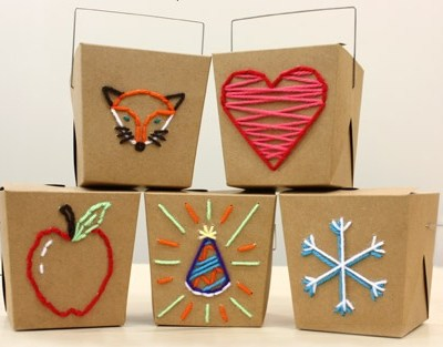 Make Your Own: Embroidered Gift Boxes