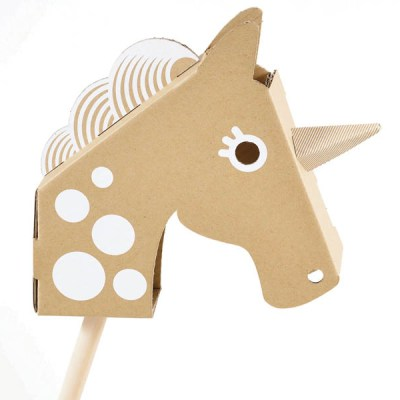 Flatout Frankie cardboard unicorn