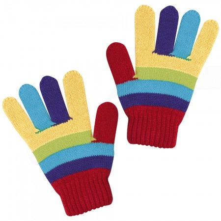 JoJo Maman Bebe rainbow gloves