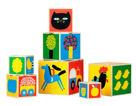 Marimekko stacking blocks