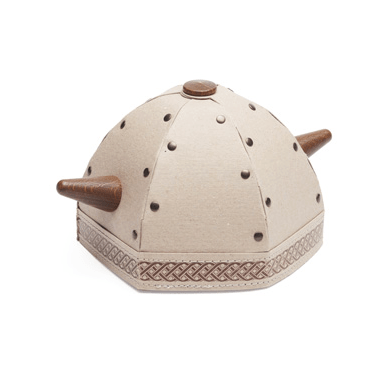 Hedgehog Viking helmet