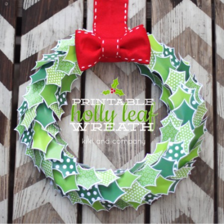 Printable Holly Leaf Wreath