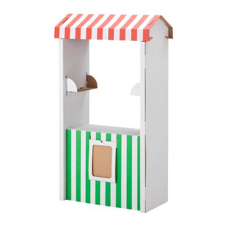 Skylta cardboard market stand,