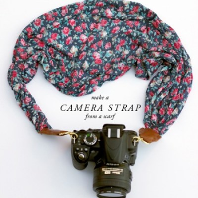 Make your own: Camera strap from a scarf