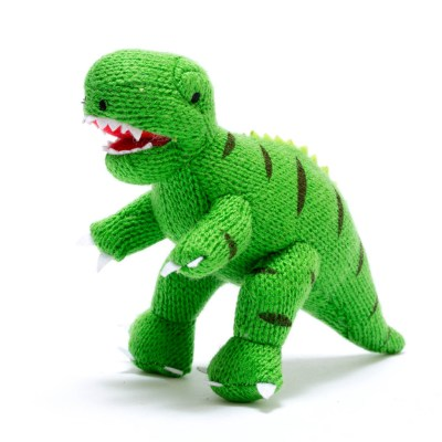 Best Years mini knitted dino rattles