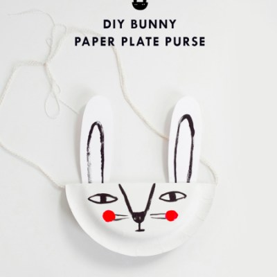 Make Your Own: Bunny paper plate bag