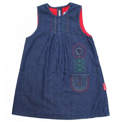 Toby Tiger rainbow pinafore