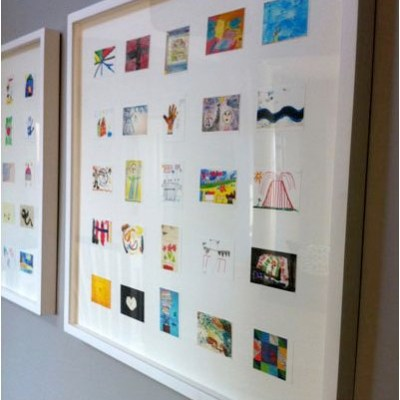 Inspiration: Make a framed collage of your child's artwork