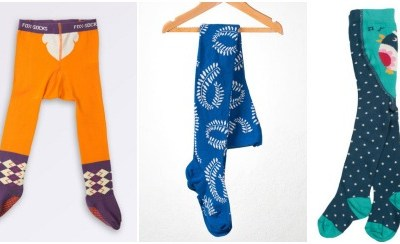 Winter warmers: funky tights for kids
