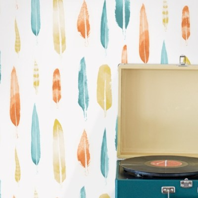 Mini Moderns 'Feathers' wallpaper