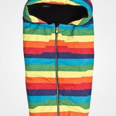 Molo rainbow-striped sleeping bag