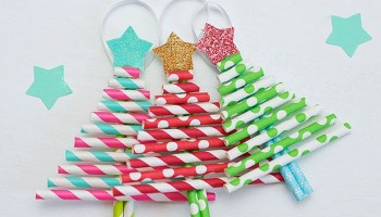 Make Your Own Paper Straw Christmas Ornaments