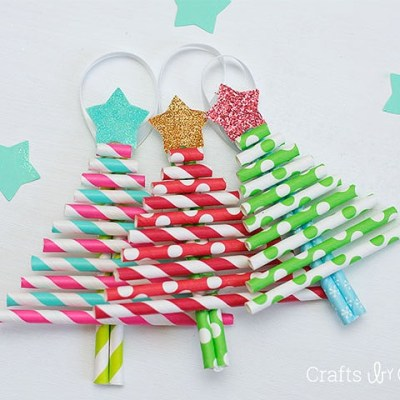 Make your own: Paper Straw Christmas Ornaments