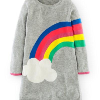 Hot on the high street: Boden rainbow dress