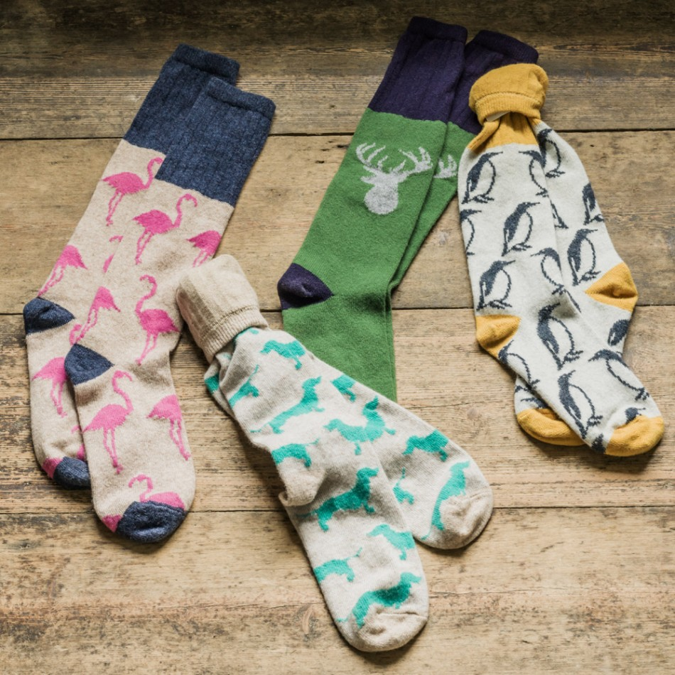 Lambswool Animal Socks