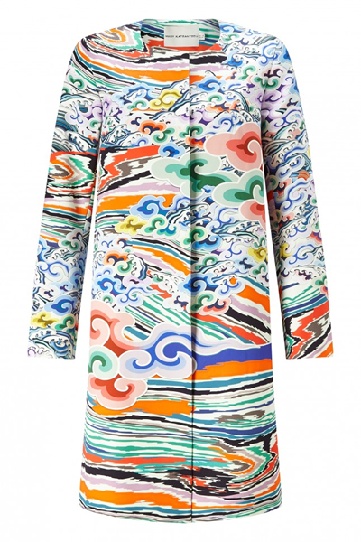 MARY KATRANTZOU Rainbow Cloud Coat £1,620, Nine in the Mirror