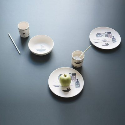 Ferm Living bamboo dinner set
