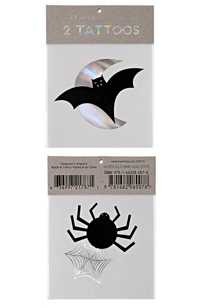Bat & Spider Tattoos, £1.50, Shop BG