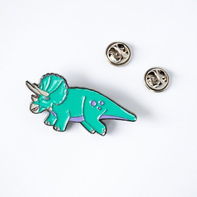 All the heart eyes for these enamel dinosaur pins